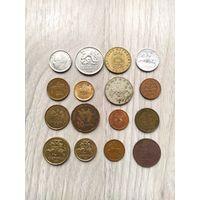 Сборный лот 16 монет(Без РБ, РФ, Украины)