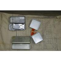 Прочнейшие ёмкости для хранен.предметов из НАЗа-7 лётчика СССР. оригиналы. Каждая по 20 рублей.