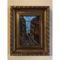 Картина маслом, рамка, панно, искусство, декор, живопись, антиквариат