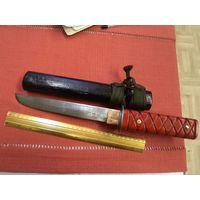 Нож ручной работы в деревянных ножнах(01)