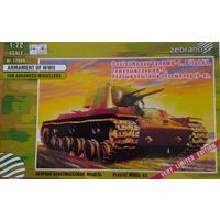 Тяжёлый танк КВ-1. Первый опытный экземпляр. Zebrano 72009 1:72