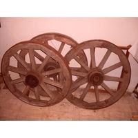 Колеса дубовые от конной телеги