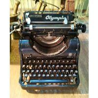 Печат. машинка Олимпия 1945-49 г. Германия, Эрфурт, с русской клавиатурой, репарационные поставки, модель 8, Антураж