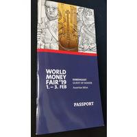 """""""Паспорт"""" нумизматической выставки World Money Fair в Берлине 1-3 февраля 2019 года (с 30-ю монетами внутри)"""