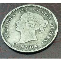 Канада 5 центов 1900г. Нечастая.