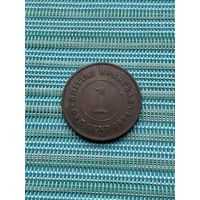 Британский Гондурас 1 цент 1894 г.