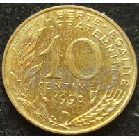1517:  10 сантимов 1990 Франция KM# 929