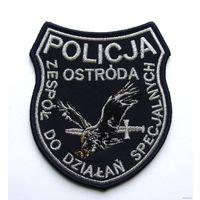 Шеврон Команды специальных действий полиции г.Оструда, Республика Польша(распродажа коллекции)