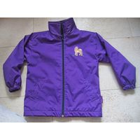 Куртка софтшел фиолетовая на девочку р 116