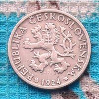 Чехословакия 1 крона 1924 года. Жатва. Инвестируй в историю!
