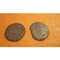 Монеты прибалтийских владений Швеции 17 век. Солиды в одном лоте.З