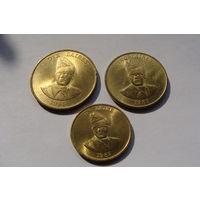Заир. набор монет 1987-1988 год КМ#13 КМ#14 КМ#19