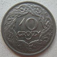 Польша 10 грошей 1923 г. (g)