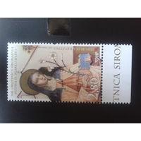 Хорватия 2008 святая Клара фреска 16 век