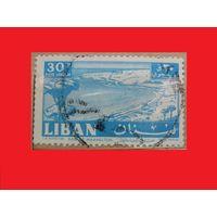 Марка Авиапочта - залив Маамелтин 1961 год Ливан
