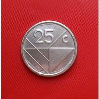 26-31 Аруба, 25 центов 2014 г. Единственное предложение монеты данного типа на АУ
