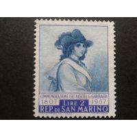 Сан-Марино 1957 Анита Гарибальди