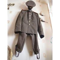 Стилизация формы полковника царской армии (РИА) - комплект: фуражка, китель мундир, бриджи галифе.
