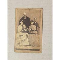 Старинная семейная фотография 1870- е годы