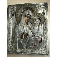 Икона Божией Матери Тихвинская. 19 Век. Размер!