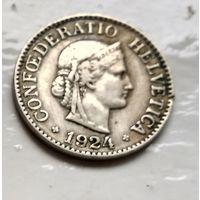 Швейцария 10 раппен, 1924  2-12-2