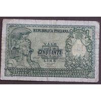 Италия 50 лир 1951 год.