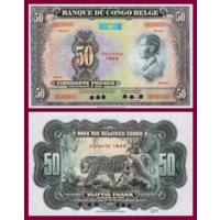 [КОПИЯ] Бельгийское Конго 50 франков 1943-52г.г. (образец)