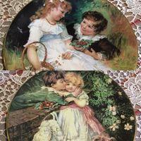Редкая серия!Тарелка коллекционная Свидание Девочка и Мальчик Англия 2 шт