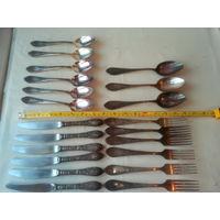 Набор посеребренный МНЦ СССР (ложки,ножи,вилки)