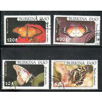 Бабочки Буркина Фасо 1984 год серия из 4 марок