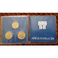 Набор юбилейных монет 1977 г. к XI чемпионату мира по футболу