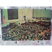 Винтажная открытка. Америка. Нью-Йоркская Национальная биржа 1965 г.