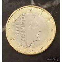 1 евро 2005 Люксембург UNC из ролла