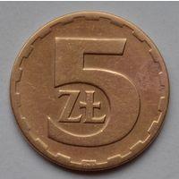 Польша 5 злотых, 1976 г.