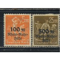 Германия Респ 1923 Помощь Руру Надп #258-9*