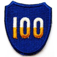 Шеврон 100-ой пехотной дивизии США (распродажа коллекции)