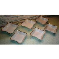 Набор салатников СССР, Рига, квадратные, 2 размера