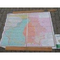 """Карта """" Беларусь в 1919-1939"""""""