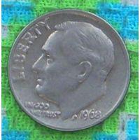 США 10 центов 1968 года, Фрaнклин Делано Рузвельт. Подписывайтесь! Много новых лотов в продаже!!!