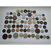 Коллекция старых монет мира до 1950года.72 штуки.
