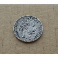 Австро-Венгрия, 1 флорин (гульден) 1879 г., Франц Иосиф I (1848-1916), серебро
