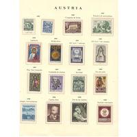 Австрия Хронология 1967-1968 в листе и клеммташах марки с клеем в идеале