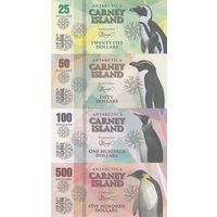 Остров Карней Набор 8 банкнот 2016 - Пингвины UNC