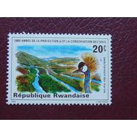 Руанда 1980г. Птицы.
