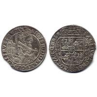 Орт 1622, Сигизмунд III Ваза, Быдгощ. Остатки штемпельного блеска под патиной, красивое состояние