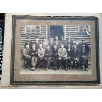 Фото группы сельского актива. 1920-30-е. 14,5х22 см.