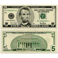 США. 5 долларов (образца 2001 года, P510)