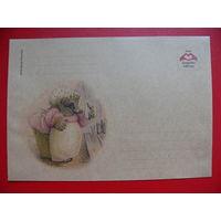 Крафт-конверт, Беатрис Поттер, Ежиха Туфф, чистый.