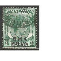 Малайа(Британская Военная Администрация). Король ГеоргVI. 1945г. Mi#3.