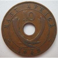 Британская Восточная Африка 10 центов 1942 г. (g)